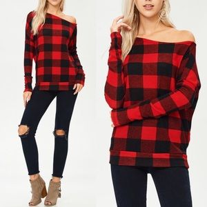 TRISTYN Off Shoulder Top - RED